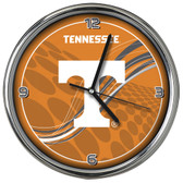 Tennessee Volunteers 12 Dynamic  Chrome Clock