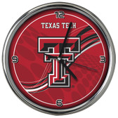 Texas Tech Red Raiders 12 Dynamic  Chrome Clock