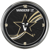 Vanderbilt Commodores 12 Dynamic  Chrome Clock