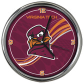 Virginia Tech Hokies 12 Dynamic  Chrome Clock