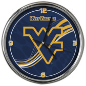 West Virginia Mountaineers 12 Dynamic  Chrome Clock