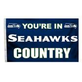 Seattle Seahawks 3 Ft. X 5 Ft. Flag W/Grommets