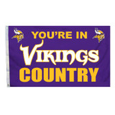 Minnesota Vikings 3 Ft. X 5 Ft. Flag W/Grommets