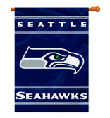 Seattle Seahawks 2-Sided 28 X 40 House Banner