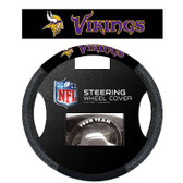 Minnesota Vikings Poly-Suede Steering Wheel Cover