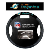Miami Dolphins Poly-Suede Steering Wheel Cover