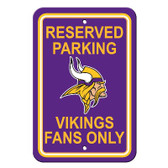 Minnesota Vikings Plastic Parking Sign - Reserved Parking