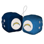Los Angeles Chargers Fuzzy Dice