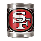San Francisco 49er's Stainless Steel Can Holder with Metallic Graphics