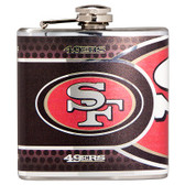 San Francisco 49er's Stainless Steel 6 oz. Flask with Metallic Graphics