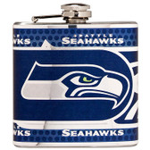 Seattle Seahawks Stainless Steel 6 oz. Flask with Metallic Graphics