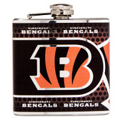 Cincinnati Bengals Stainless Steel 6 oz. Flask with Metallic Graphics