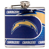 Los Angeles Chargers Stainless Steel 6 oz. Flask with Metallic Graphics