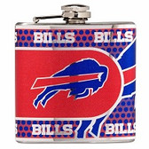 Buffalo Bills Stainless Steel 6 oz. Flask with Metallic Graphics