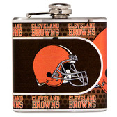 Cleveland Browns Stainless Steel 6 oz. Flask with Metallic Graphics
