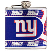 New York Giants Stainless Steel 6 oz. Flask with Metallic Graphics