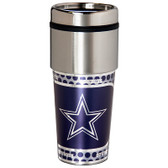 Dallas Cowboys 16  oz. Stainless Steel Travel Tumbler Metallic Graphics
