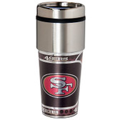 San Francisco 49er's 16  oz. Stainless Steel Travel Tumbler Metallic Graphics