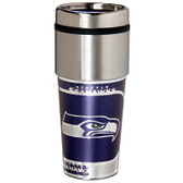 Seattle Seahawks 16  oz. Stainless Steel Travel Tumbler Metallic Graphics