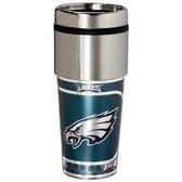 Philadelphia Eagles 16  oz. Stainless Steel Travel Tumbler Metallic Graphics