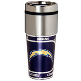 Los Angeles Chargers 16  oz. Stainless Steel Travel Tumbler Metallic Graphics
