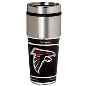 Atlanta Falcons 16  oz. Stainless Steel Travel Tumbler Metallic Graphics