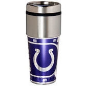 Indianapolis Colts 16  oz. Stainless Steel Travel Tumbler Metallic Graphics