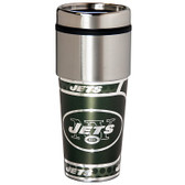 New York Jets 16  oz. Stainless Steel Travel Tumbler Metallic Graphics