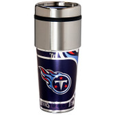 Tennessee Titans 16  oz. Stainless Steel Travel Tumbler Metallic Graphics