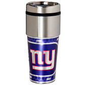 New York Giants 16  oz. Stainless Steel Travel Tumbler Metallic Graphics