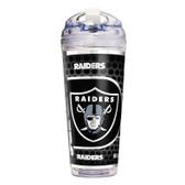 Oakland Raiders 24 Oz. Acrylic Tumbler w/ Straw