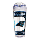 Carolina Panthers 24 Oz. Acrylic Tumbler w/ Straw