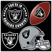 Oakland Raiders 4 Piece Magnet Set