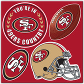 San Francisco 49er's 4 Piece Magnet Set