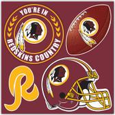 Washington Redskins 4 Piece Magnet Set