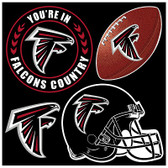 Atlanta Falcons 4 Piece Magnet Set