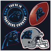 Carolina Panthers 4 Piece Magnet Set