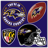 Baltimore Ravens 4 Piece Magnet Set