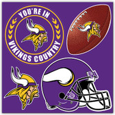Minnesota Vikings 4 Piece Magnet Set