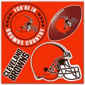 Cleveland Browns 4 Piece Magnet Set