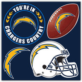 Los Angeles Chargers 4 Piece Magnet Set