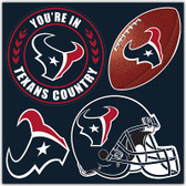 Houston Texans 4 Piece Magnet Set