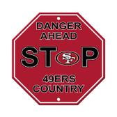 San Francisco 49er's Plastic Stop Sign