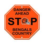 Cincinnati Bengals Plastic Stop Sign