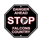 Atlanta Falcons Plastic Stop Sign