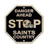 New Orleans Saints Plastic Stop Sign