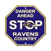 Baltimore Ravens Plastic Stop Sign