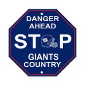 New York Giants Plastic Stop Sign