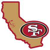 """San Francisco 49er's Home State 10"""" Vinyl Magnet"""