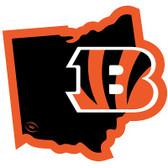 "Cincinnati Bengals Home State 10"" Vinyl Magnet"